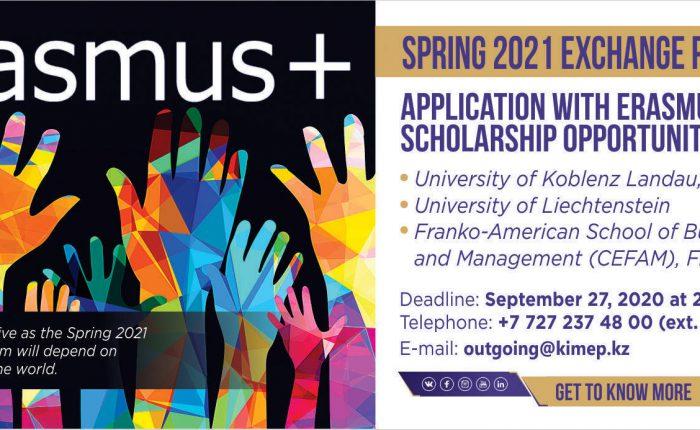 Slider application with Erasmus+ Scholarship
