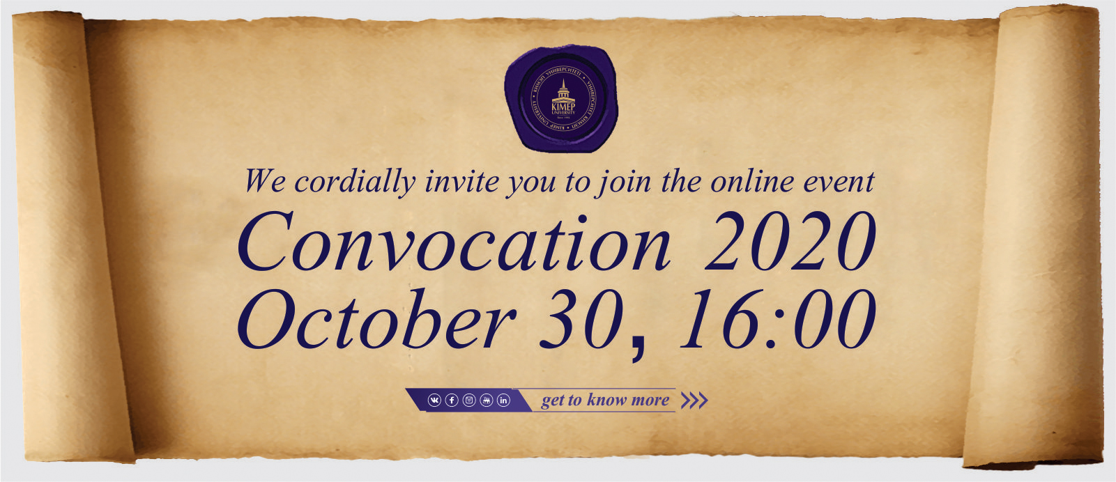 Slider Invitation Convocation Vip